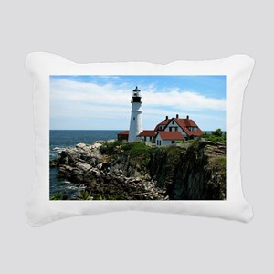 Portland, Maine Lighthou Rectangular Canvas Pillow
