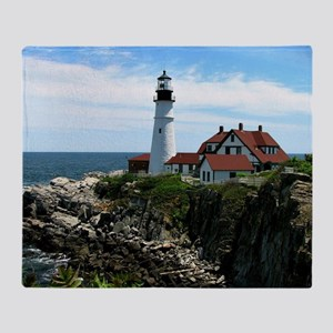Portland, Maine Lighthouse Throw Blanket