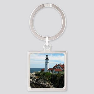 Portland, Maine Lighthouse Square Keychain