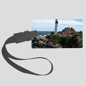 Portland, Maine Lighthouse Large Luggage Tag