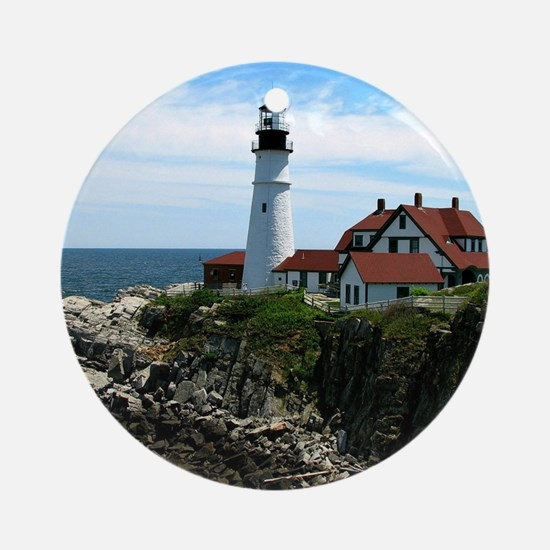 Portland, Maine Lighthouse Round Ornament