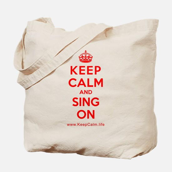 Unique Keep calm and sing soft kitty Tote Bag