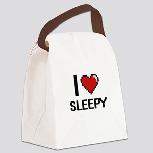 I love Sleepy Digital Design Canvas Lunch Bag