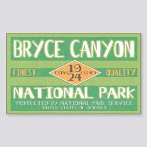 Bryce Canyon National Park (Retro) Sticker (Rectan