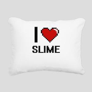 I love Slime Digital Des Rectangular Canvas Pillow