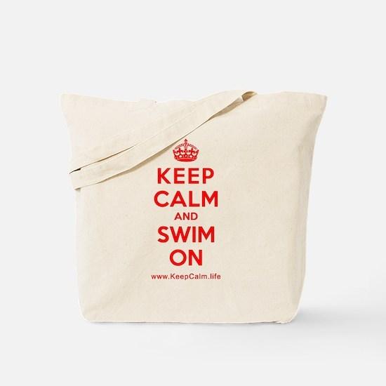 Cute Keep calm and swim Tote Bag