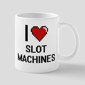 I love Slot Machines Digital Design Mugs