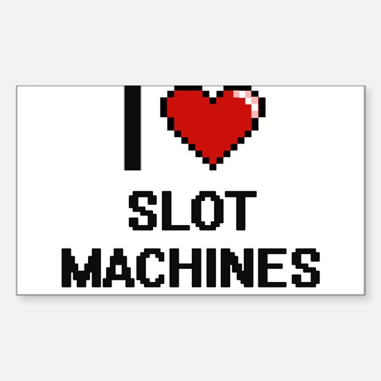 I love Slot Machines Digital Design Decal