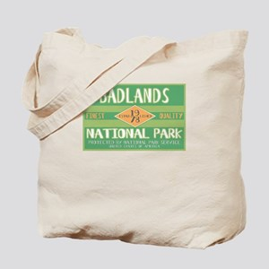 Badlands National Park (Retro) Tote Bag