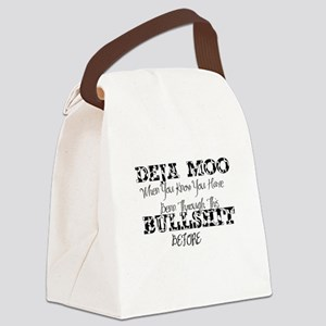 deja moo Canvas Lunch Bag