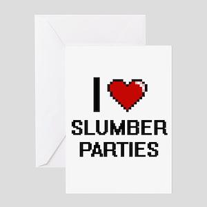 I love Slumber Parties Digital Desi Greeting Cards