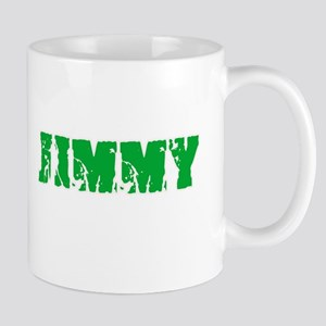 Jimmy Name Weathered Green Design Mugs