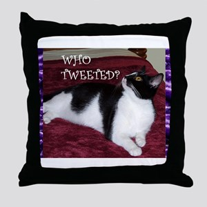Orrie Who Tweeted Small Posters Throw Pillow