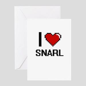 I love Snarl Digital Design Greeting Cards