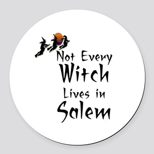 HALLOWEEN - NOT EVERY WITCH LIVES Round Car Magnet