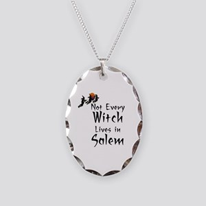 HALLOWEEN - NOT EVERY WITCH LI Necklace Oval Charm