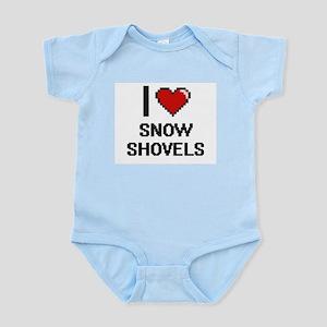 I love Snow Shovels Digital Design Body Suit