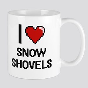 I love Snow Shovels Digital Design Mugs