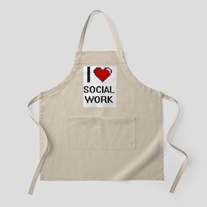 I love Social Work Digital Design Apron