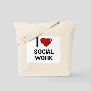 I love Social Work Digital Design Tote Bag