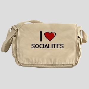 I love Socialites Digital Design Messenger Bag