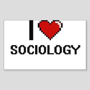I love Sociology Digital Design Sticker