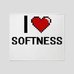 I love Softness Digital Design Throw Blanket