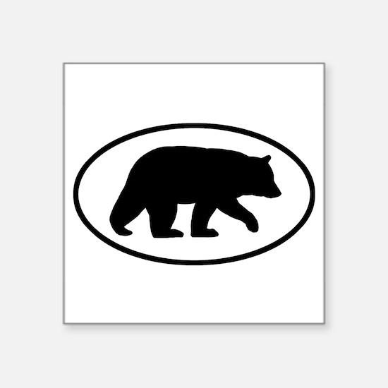 "Cool Animals in the wild Square Sticker 3"" x 3"""