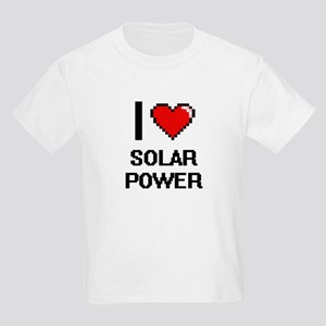 I love Solar Power Digital Design T-Shirt