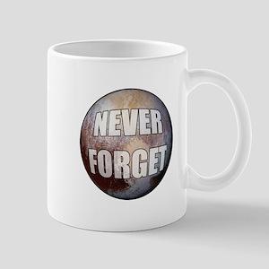 Pluto Never Forget Mugs