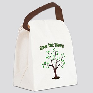 Save the Trees Canvas Lunch Bag