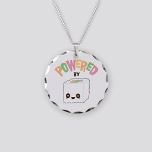 Powered by Sushi Necklace Circle Charm