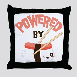 Powered by Nigri Sushi Throw Pillow