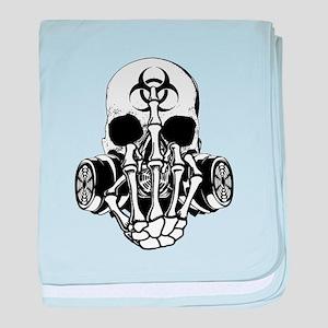 Biohazard Zombie Skull Fuck U baby blanket