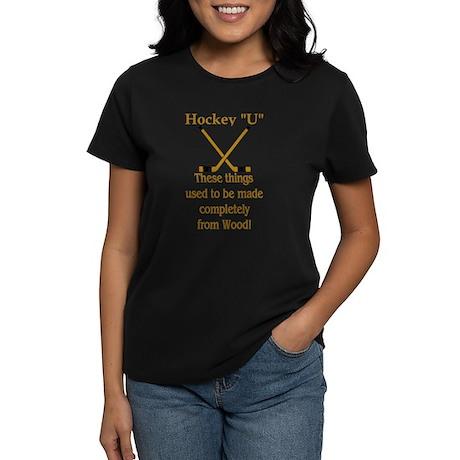 Wood Hockey Sticks Women's Dark T-Shirt