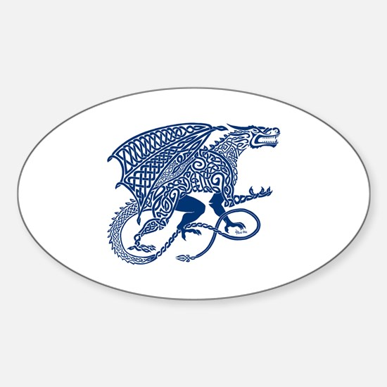 Celtic Knotwork Dragon, Blue Decal