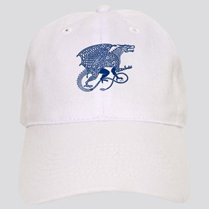Celtic Knotwork Dragon, Blue Cap