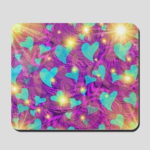 blaue herzen Mousepad