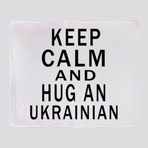 Keep Calm And Ukrainian Designs Throw Blanket