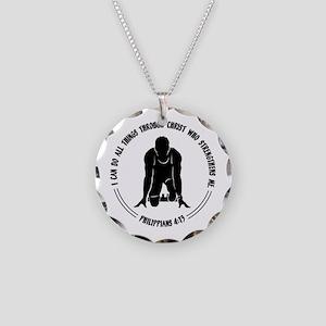 PHIL.4:13 - RUN Necklace Circle Charm