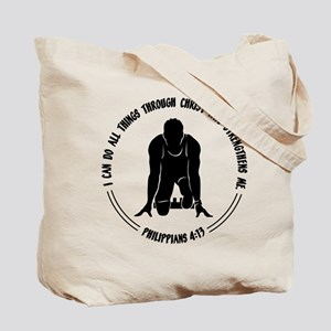 PHIL.4:13 - RUN (both sides) Tote Bag