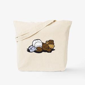 Cute Sleeping Baby Monkey Tote Bag