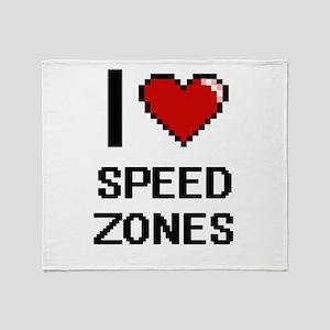 I love Speed Zones Digital Design Throw Blanket