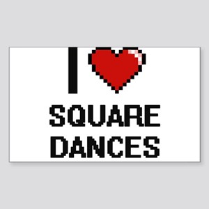 I love Square Dances Digital Design Sticker