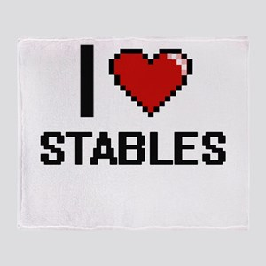 I love Stables Digital Design Throw Blanket