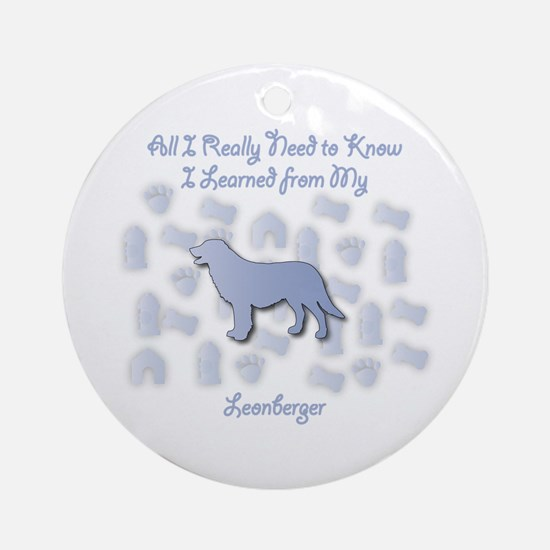 Learned Leonberger Ornament (Round)