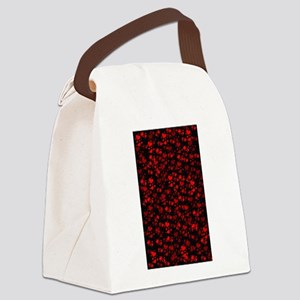 red hearts Canvas Lunch Bag