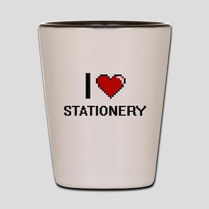 I love Stationery Digital Design Shot Glass