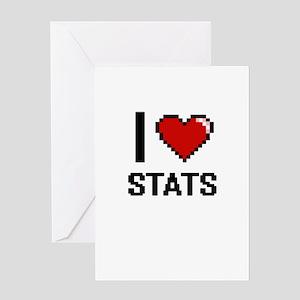 I love Stats Digital Design Greeting Cards