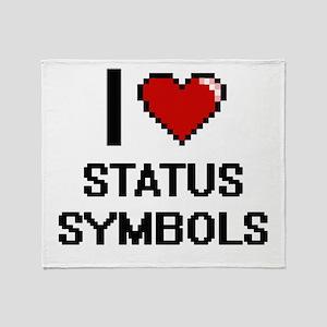 I love Status Symbols Digital Design Throw Blanket